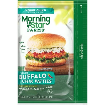 Morningstar Farms Buffalo Frozen Chik Veggie Patties - 4ct/10oz