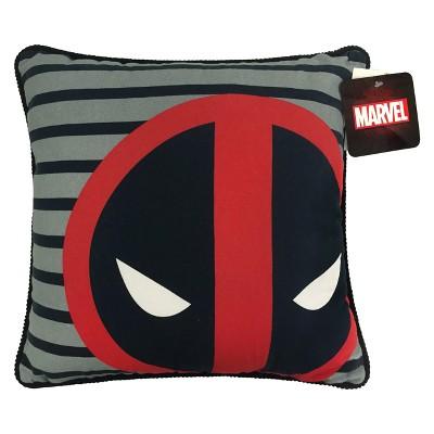 Marvel Deadpool Throw Pillow Black/Red