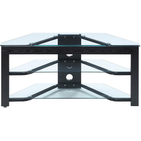 "Wood and Glass TV Stand 43"" - Convenience Concepts - image 1 of 4"