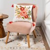 Embroidered Floral Square Throw Pillow - Opalhouse™ - image 2 of 4