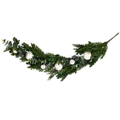 """Vickerman 48"""" Green Cypress Blend Artificial Christmas Garland, Unlit"""