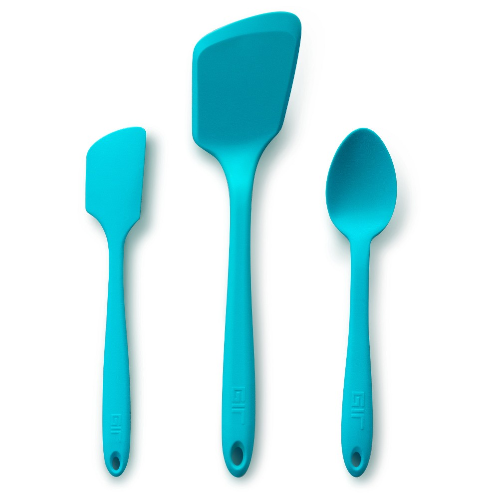 Image of Gir Mini Silicone Kitchen Tool 3pc Set Teal (Blue)