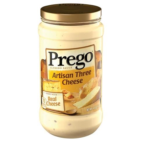 Prego Artisan Three Cheese Alfredo Sauce 14.5 oz - image 1 of 4