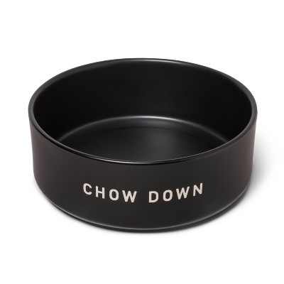 6Cup Dog Bowl with Resist Pattern - Matte Black - Boots & Barkley™