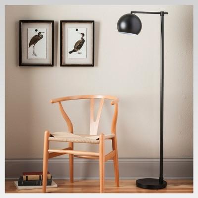 Edris Metal Globe Floor Lamp Black Lamp Only - Project 62™