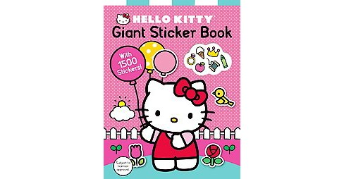 Hello Kitty Giant Sticker Book (Paperback) - image 1 of 1
