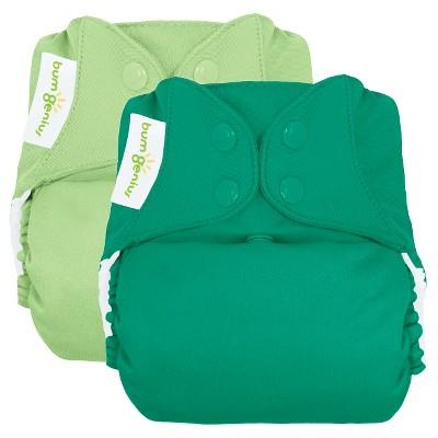 bumGenius Freetime All-in-One Snap Reusable Diaper 2pk - Grasshopper/Hummingbird