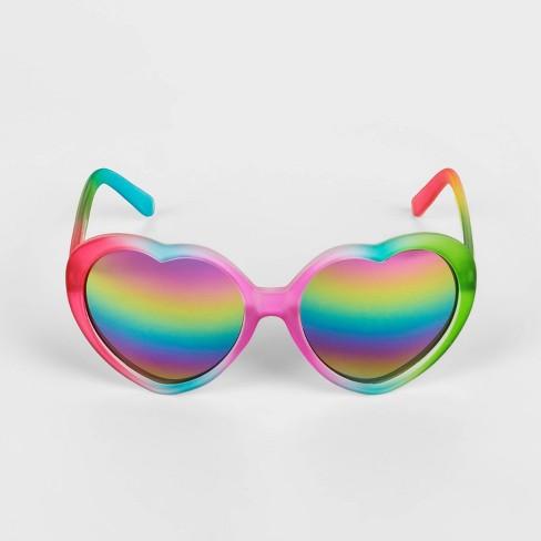 Toddler Girls' Heart Sunglasses - Cat & Jack™ Rainbow 2T-3T - image 1 of 1
