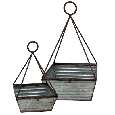 Decorative Basket Set of 2 - Gray
