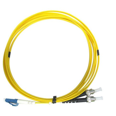 Monoprice Fiber Optic Cable - 3 Meters, LC/UPC-ST/UPC, G657A1, Single Mode, Duplex, 2mm, OFNR - image 1 of 1