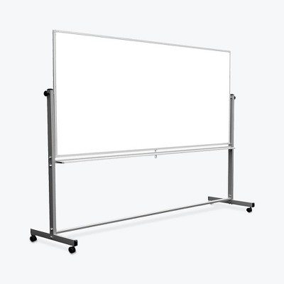 Luxor 96x40 Double Sided Magnetic Whiteboard Aluminum MB9640WW