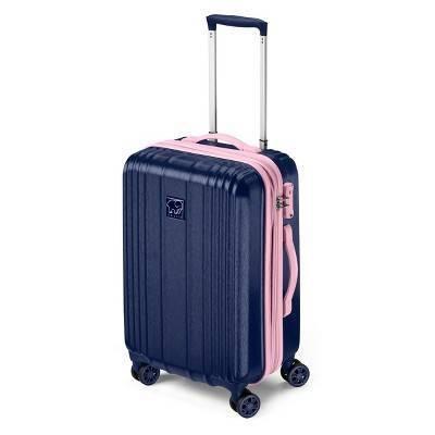 "Ivory Ella 20"" Hardside Suitcase - Blue & Pink"