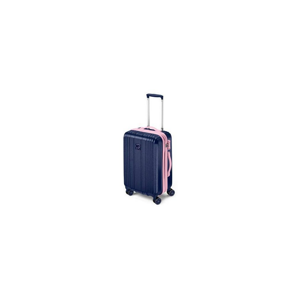"Image of ""Ivory Ella 20"""" Hardside Suitcase - Blue & Pink, Size: Small, Pink Blue"""