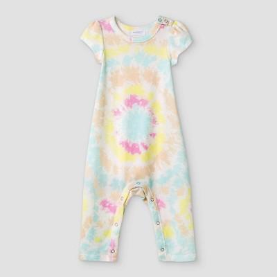 Grayson Mini Baby Girls' Tie-Dye Romper - White 0-3M