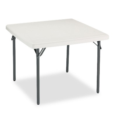 Iceberg IndestrucTables Too 1200 Series Resin Folding Table 37w x 37d x 29h Platinum 65273