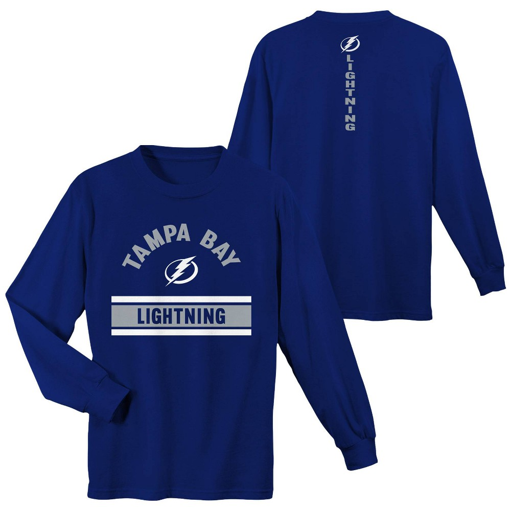 Tampa Bay Lightning Boys' Warming House Long Sleeve T-Shirt - S, Multicolored