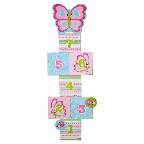 Melissa & Doug Sunny Patch Cutie Pie Butterfly Hopscotch Action Game - 8 Foam Pads - image 1 of 3