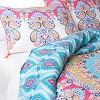 Blue&Pink Gypsy Rose Medallion Reversible Duvet Cover Set - image 2 of 3
