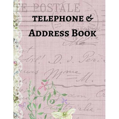 Telephone & Address Book - (Large Print) by  Mahtava Journals (Paperback)