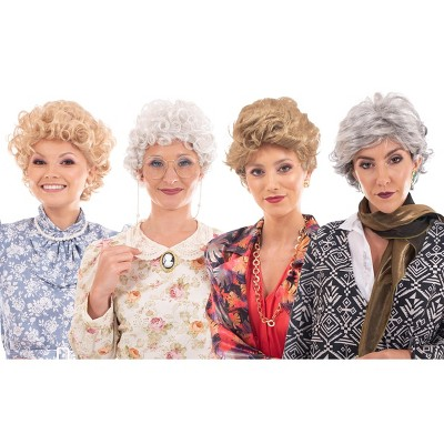Toynk Golden Girls Complete Wig Set | Golden Girls Cosplay Wigs | Sized For Adults