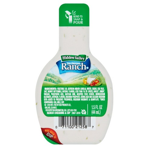 Hidden Valley Original Ranch Salad Dressing Dip and Pour Cups - 1.5oz - image 1 of 4