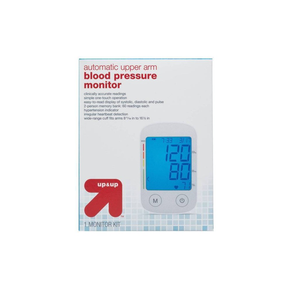 Upper Arm Blood Pressure Monitor - Up&Up, White
