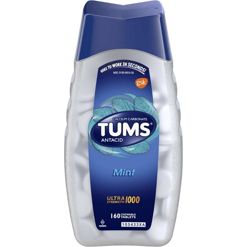 TUMS Ultra Strength Mint Antacid Chewable Tablets 160ct - image 1 of 4