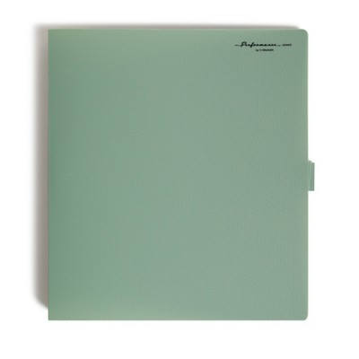 "U Brands 1.5"" Plastic Performance D Ring Bindfolio 200 Sheet Capacity 5 Pocket Olive"