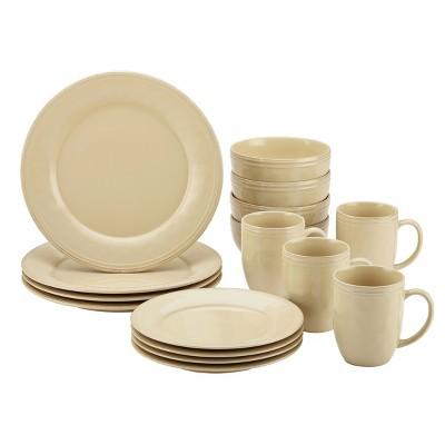 Rachael Ray 16pc Cucina Dinnerware Set Cream