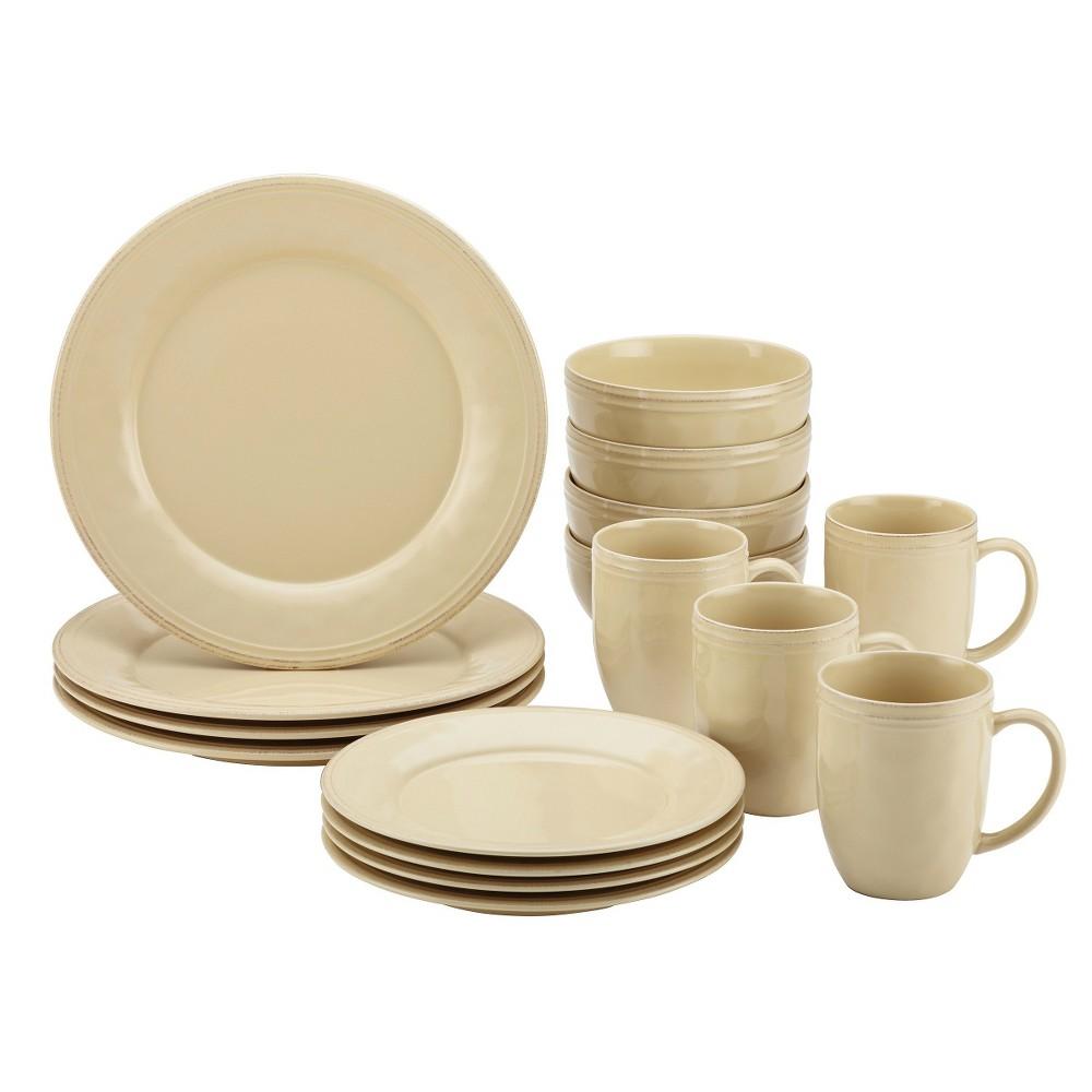 Image of Rachael Ray 16pc Cucina Dinnerware Set Cream, Ivory