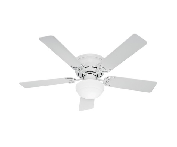 52 Low Profile Iii Plus White Ceiling Fan With Light Hunter Fan Buy Online In Faroe Islands At Desertcart