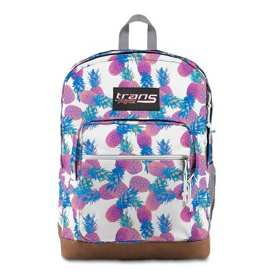 "Trans by JanSport 17"" Super Cool Backpack - Pastel Pineapples White"