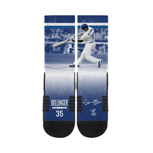 MLB Los Angeles Dodgers Cody Bellinger Strideline Premium Player Socks - image 1 of 2