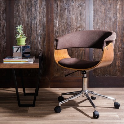 Vintage Mod Mid Century Modern Office Chair   Walnut, Espresso   Lumisource  : Target