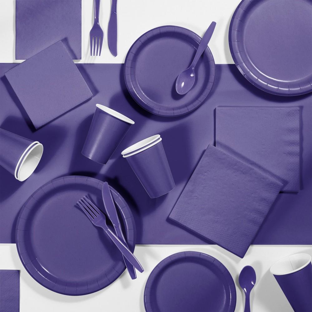 245pk Party Supplies Kit Purple Coupons