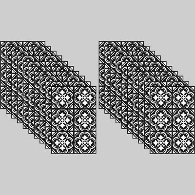 20ct Tile Decals Black & White - Bullseye's Playground™