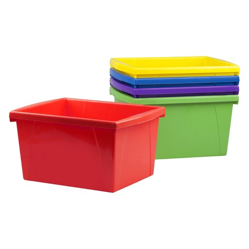 Storex® Classroom Storage Bin 6ct 4 Gallon - image 1 of 3