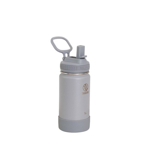 Takeya Actives 14oz Insulated Stainless Steel Water Bottle - Gray Fossil - image 1 of 4