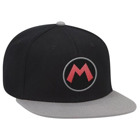 Super Mario: Mario Icon Brimmed Hat - Black/Gray - image 1 of 1