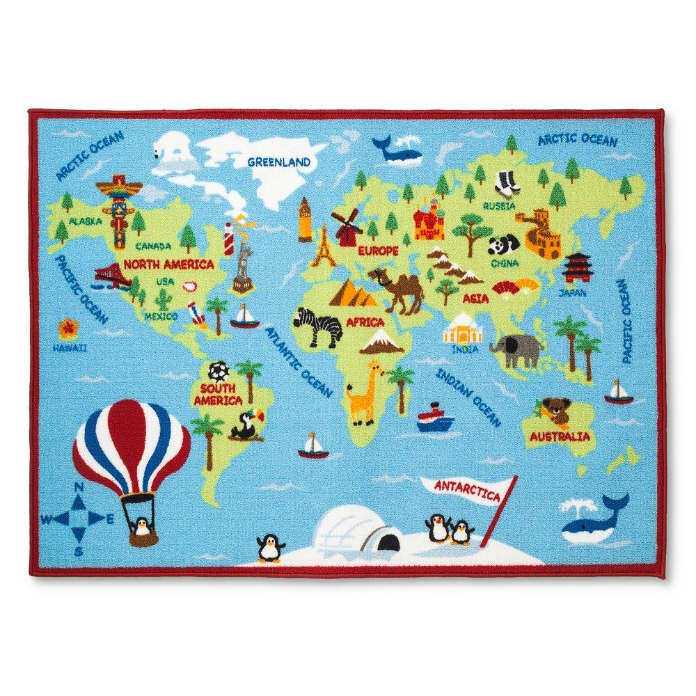 Activity World Map Area Rug (40