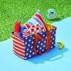 Single Layer Polyester Utility Tote Americana Red Strap - Sun Squad™ - image 3 of 3