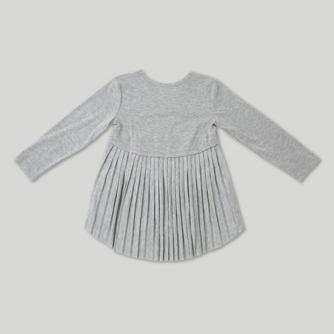 79ef7a098f2 Toddler Girls' Afton Street Long Sleeve Pleated Tunic - Heather Grey