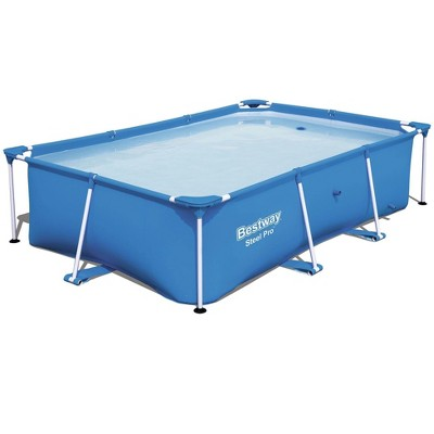 Bestway Steel Pro 8.5' x 5.6' x 2' Rectangular Ground Swimming Pool (Pool Only)
