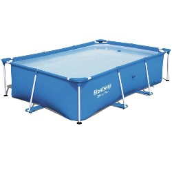 Bestway 8.5ft x 5.6ft x 2ft Steel Pro Rectangular Above Ground Swimming Pool