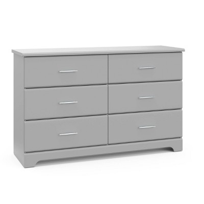 Storkcraft Brookside 6 Drawer Dresser - Pebble Gray
