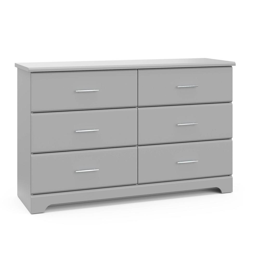 Storkcraft Brookside 6 Drawer Dresser - Pebble Gray Promos