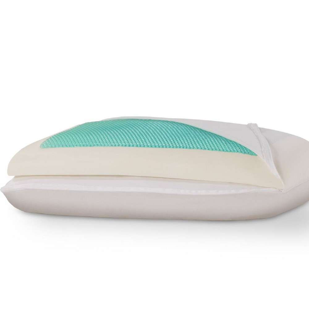 Image of Comfort Plus Cooling Gel Bed Pillow (Queen) - Dreamfinity, White