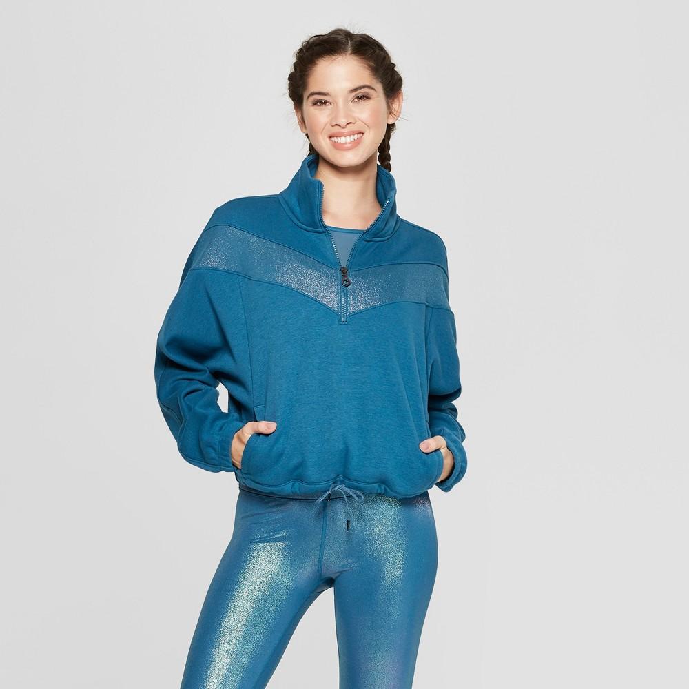 Women's Pullover Sweatshirt - JoyLab Ocean Blue L