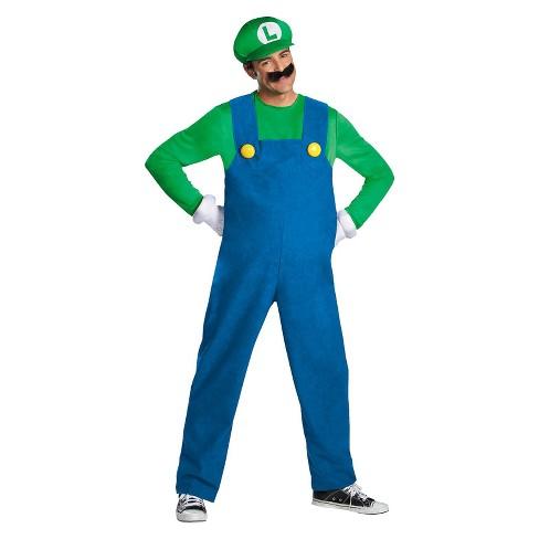 Adult Super Mario Brothers Luigi Halloween Costume Xxl Target