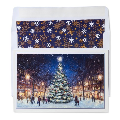 American Greetings 40ct Tree in City Holiday Boxed Cards - image 1 of 1